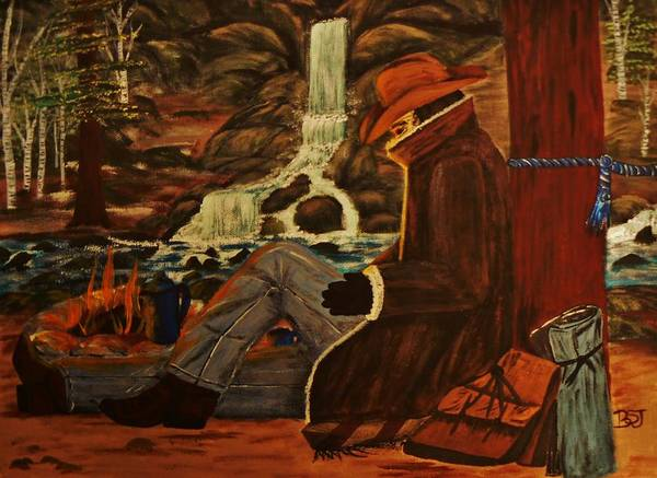 Painting - Camp Coffee Rest by Barbara St Jean