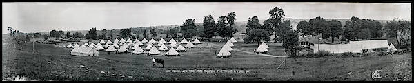 Fayetteville Photograph - Camp Newayo, New York State Troopers by Fred Schutz Collection
