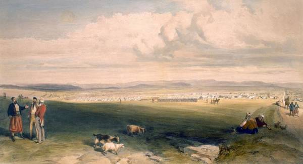 Brigade Drawing - Camp Of The Light Division, Plate by William 'Crimea' Simpson