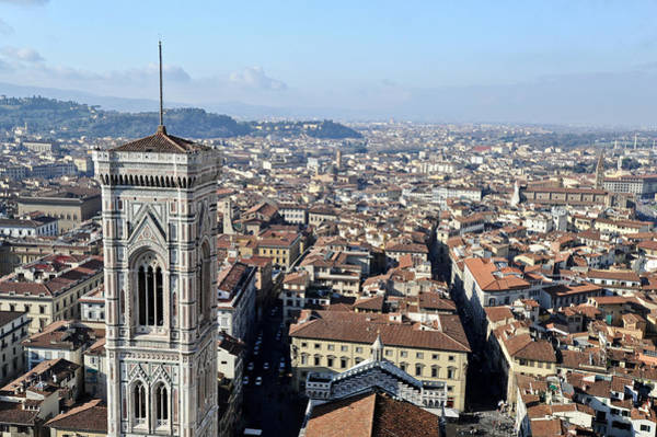 Photograph - Campanile And Rooftops Florence by Gary Eason