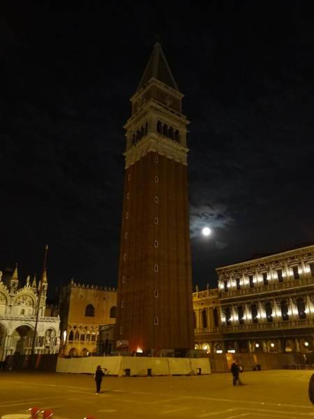 Photograph - Campanile In The Moonlight by Keith Stokes