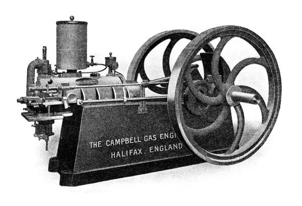 Horsepower Photograph - Campbell Petrol Engine by Science Photo Library