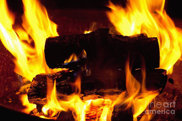 Photograph - Campfire Burning by Bryan Mullennix