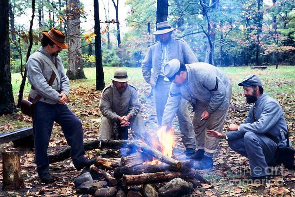 Campfire Confederates Art Print