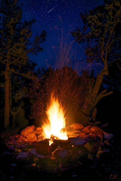Camping Wall Art - Photograph - Campfire Under The Stars by Aaron Spong