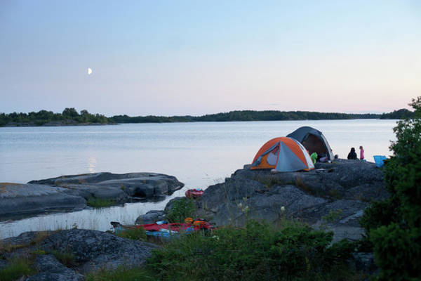 Archipelago Photograph - Camping At Coast At Evening by Johner Images