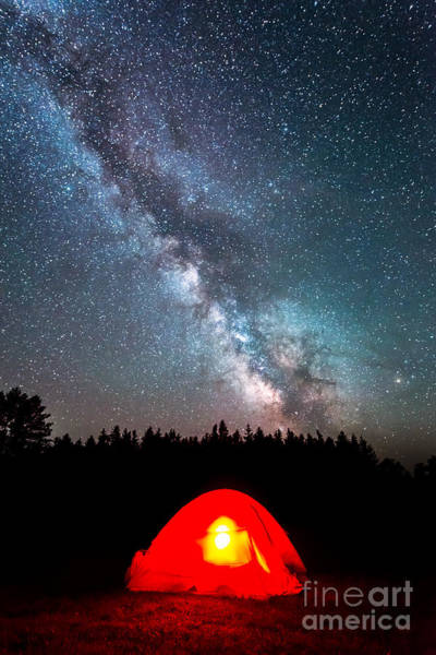 Creationism Wall Art - Photograph - Camping At Night by Michael Ver Sprill