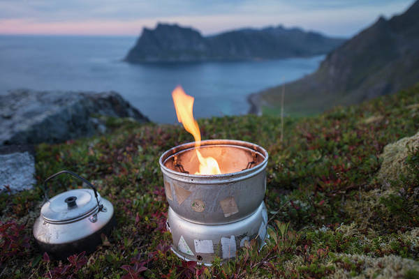 Wall Art - Photograph - Camping Stove Over Uttakleiv Beach by Cody Duncan
