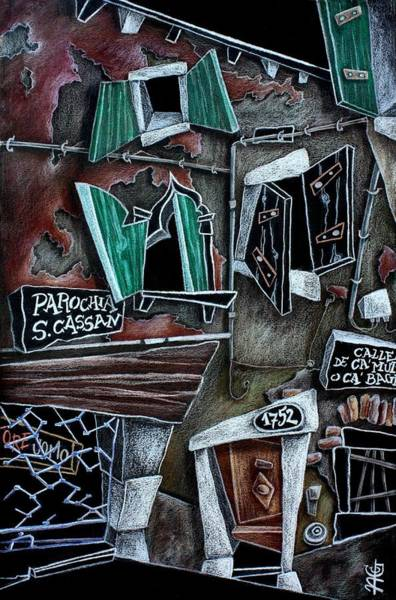 Wall Art - Drawing - Campo San Cassian - Illustratori Italiani E Artisti Contemporanei by Arte Venezia