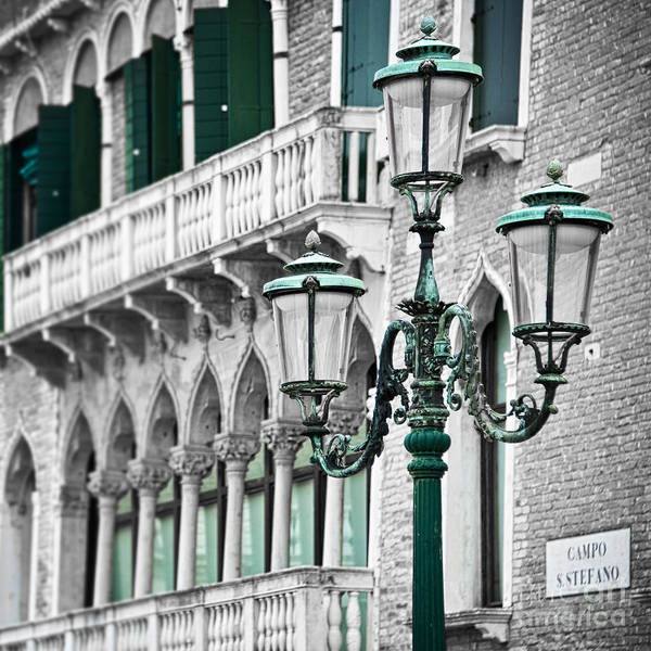 Town Square Photograph - Campo Stefano by Delphimages Photo Creations