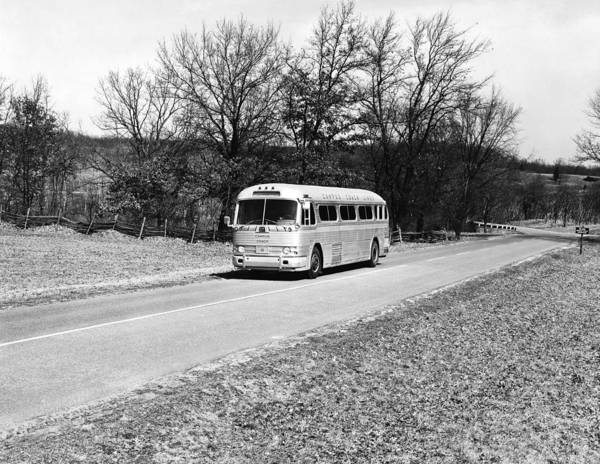 Autobus Photograph - Campus Coach Line Bus by Underwood Archives