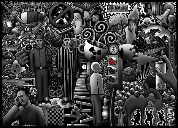 Wall Art - Digital Art - Can 'o' Worms by Matthew Ridgway