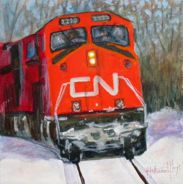 Diesel Trains Painting - Canada Coast To Coast by Mohamed Hirji