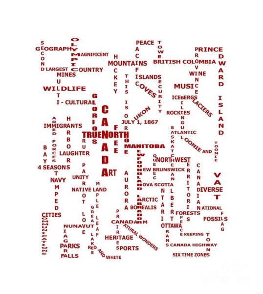 Description Digital Art - Canada Crosswords by Barbara Griffin