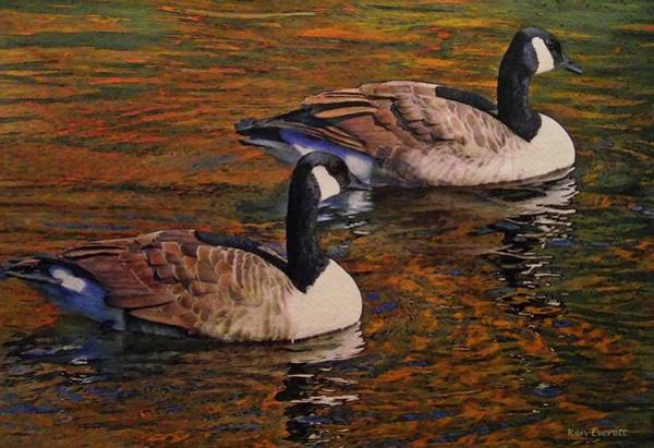 Canada Goose Wall Art - Painting - Canada Geese by Ken Everett