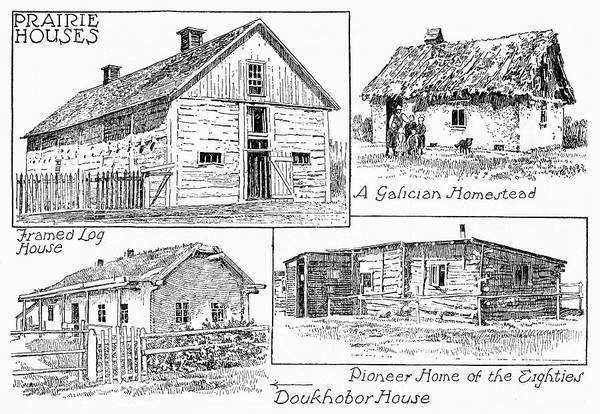 Homestead Drawing - Canada Homesteads by Granger