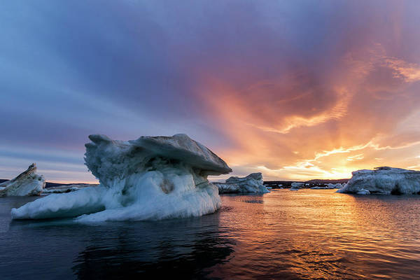 Melville Photograph - Canada, Nunavut, Territory, Setting by Paul Souders