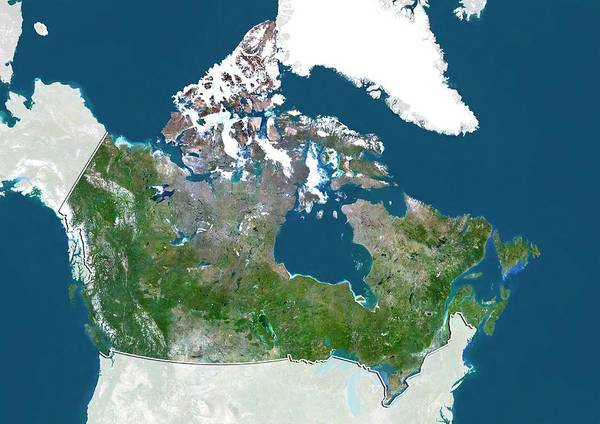 Landsat 7 Wall Art - Photograph - Canada by Planetobserver/science Photo Library