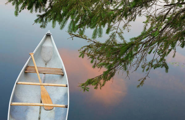 Canoe Photograph - Canada, Quebec, Eastman by Jaynes Gallery