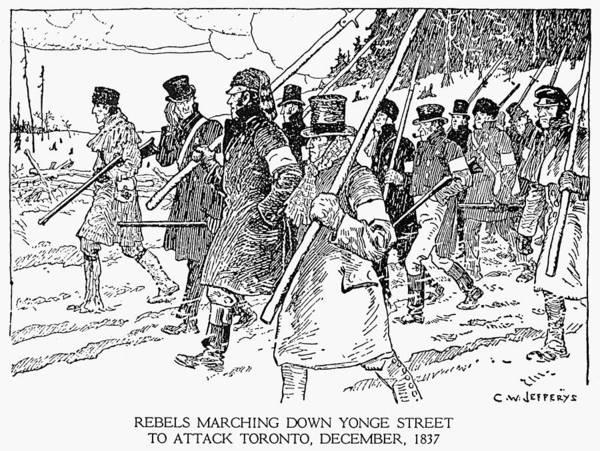Toronto Drawing - Canada Rebellion, 1837 by Granger