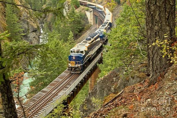 Photograph - Canadan Railroad Above The Cheakamus River by Adam Jewell