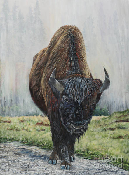 Painting - Canadian Bison by Marilyn  McNish