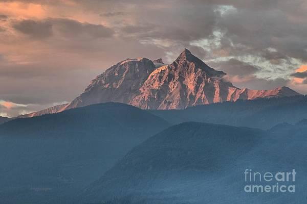 Photograph - Canadian Coastal Mountains Sunset by Adam Jewell