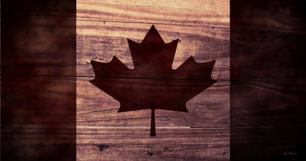 Digital Art - Canadian Flag I by April Moen