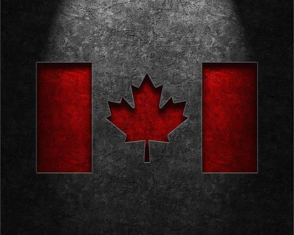 Digital Art - Canadian Flag Stone Texture by Brian Carson