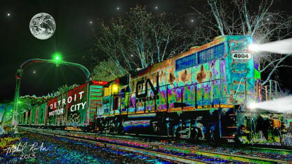 Wall Art - Digital Art - Canadian National Railroad by Michael Rucker