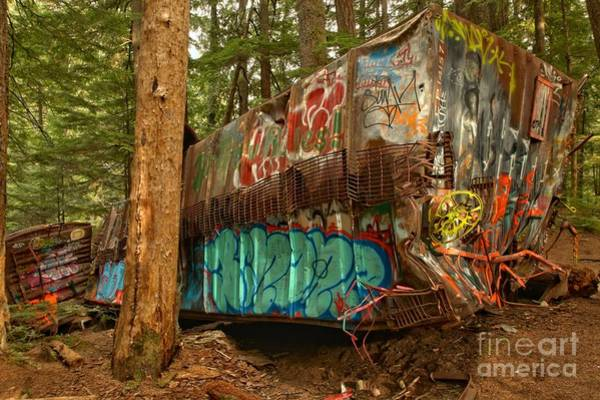 Photograph - Canadian Pacific Box Car Wreckage by Adam Jewell