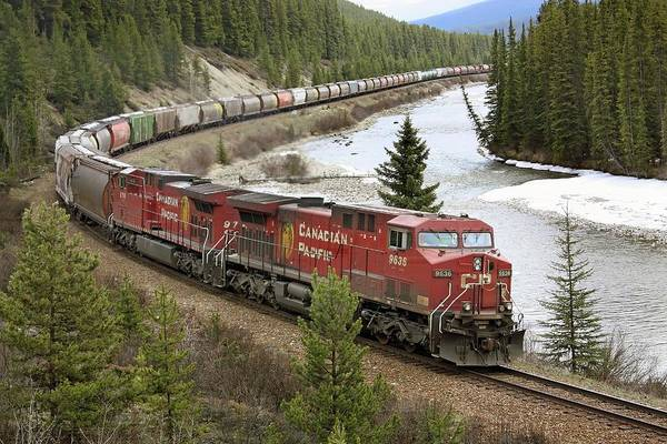 Logistics Photograph - Canadian Pacific Freight Train by Tony Craddock/science Photo Library