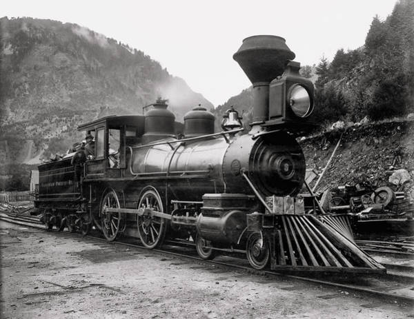 Canadian Pacific Railroad Photograph - Canadian Pacific Steam Locomotive Columbia C. 1885 by Daniel Hagerman