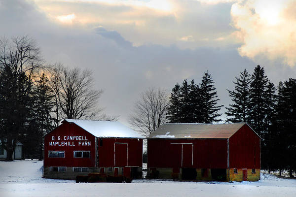 Photograph - Canadian Snowy Farm by Anthony Jones