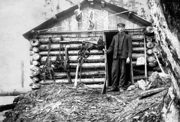 Trapping Photograph - Canadian Trapper C. 1890 by Daniel Hagerman