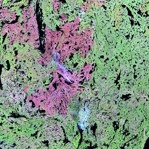 Yellowknife Wall Art - Photograph - Canadian Wetlands by Nasa/science Photo Library