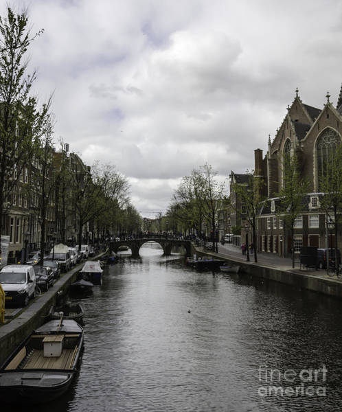 Wall Art - Photograph - Canal Behind Oude Kerk In Amsterdam by Teresa Mucha
