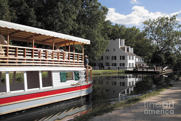 Photograph - Canal Boat On The C And O Canal At Great Falls Tavern by William Kuta