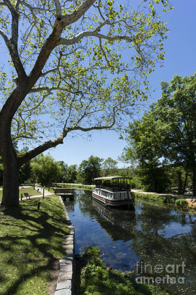 Photograph - Canal Boat On The C And O Canal In Maryland by William Kuta