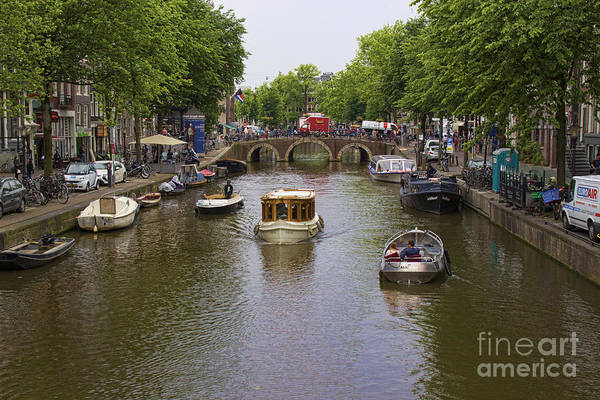 Photograph - Canal Boats - Amsterdam by Crystal Nederman