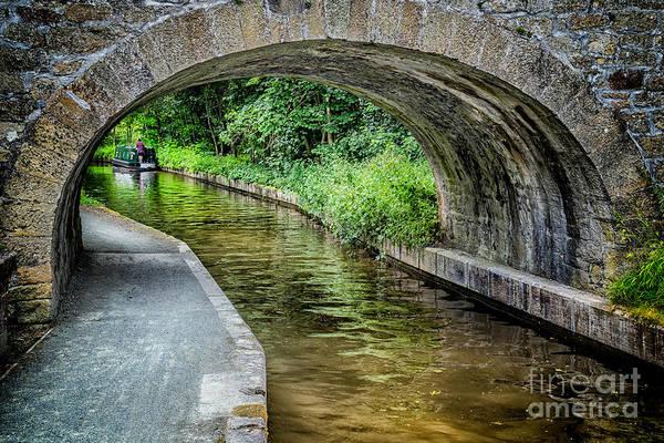 Narrow Boat Wall Art - Photograph - Canal Bridge by Adrian Evans