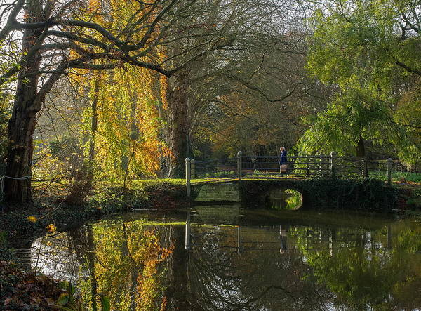 Photograph - Canal Bridge In Autumn by Stephen Barrie