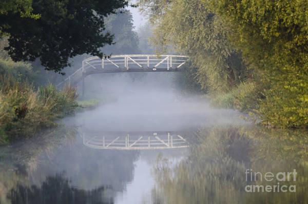 Stamford Bridge Wall Art - Photograph - Canal Bridge In The Mist  by Steev Stamford