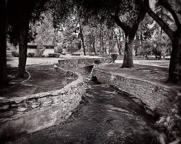 Photograph - Canal In Black And White by Wayne Wood