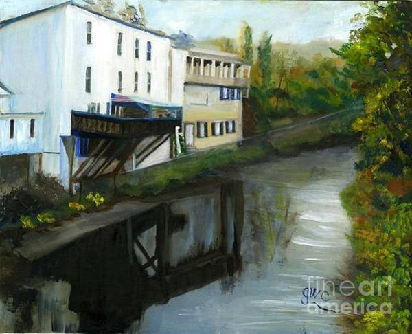 Wall Art - Painting - Canal In Reston Va by Gloria Condon