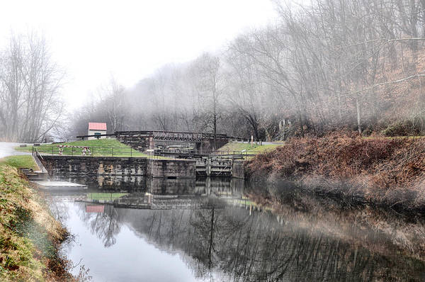 Wall Art - Photograph - Canal Lock At Mont Clare by Bill Cannon