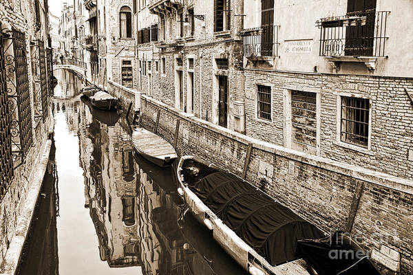 Narrow Boat Wall Art - Photograph - Canal Reflections by Delphimages Photo Creations
