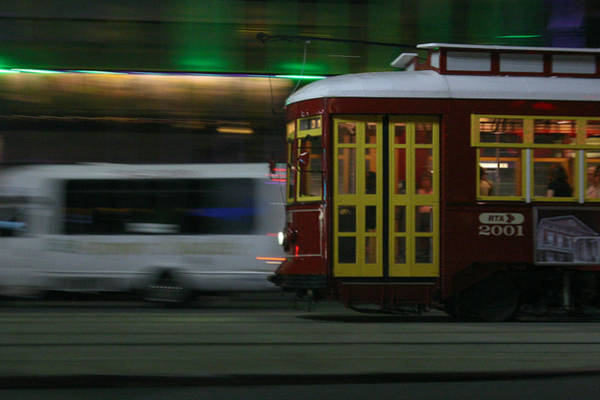 Photograph - Canal Street Trolley by Jeff Mize