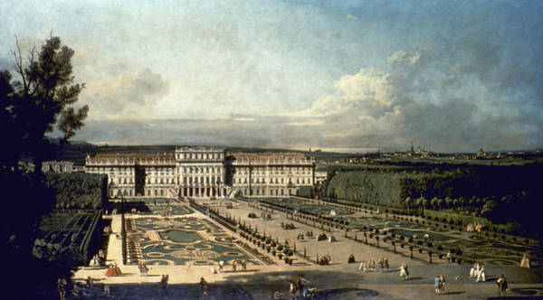 Wall Art - Painting - Canaletto Vienna, 1760 by Granger
