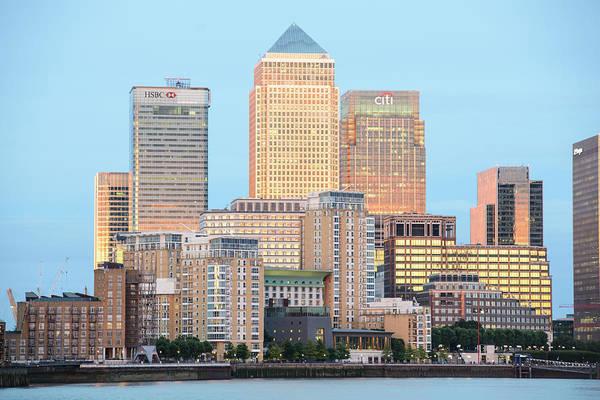 Canary Wharf Photograph - Canary Wharf At Twilight, London, U.k by John Harper